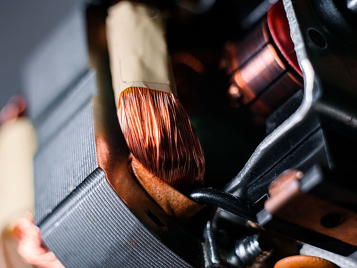 Drive technology - copper wire winding